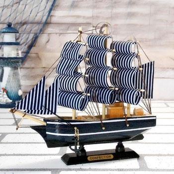 Mô hình thuyền Confection xanh 20cm