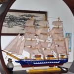 Mô hình thuyền Confection xanh 80cm