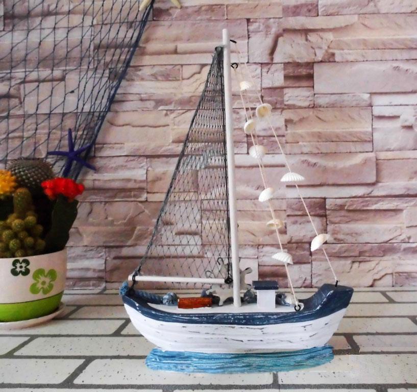 Mô hình thuyền gỗ đánh cá